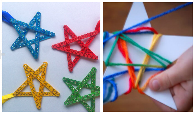 Christmas star ornaments for kids for Images of stars for kids